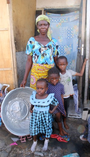 A mother living in Old Fadama slum in Accra, Ghana country visit April 2018. © Anna Bulman 2018