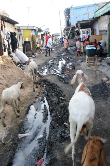 Old Fadama slum in Accra, Ghana country visit April. © Anna Bulman 2018 2018