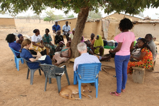 The Special Rapporteur hears from community members living in the Upper East Region, Ghana country visit April 2018. © Anna Bulman 2018