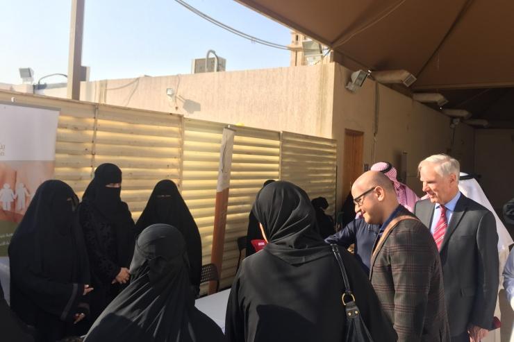 Philip Alston conducting a country visit in Saudi Arabia
