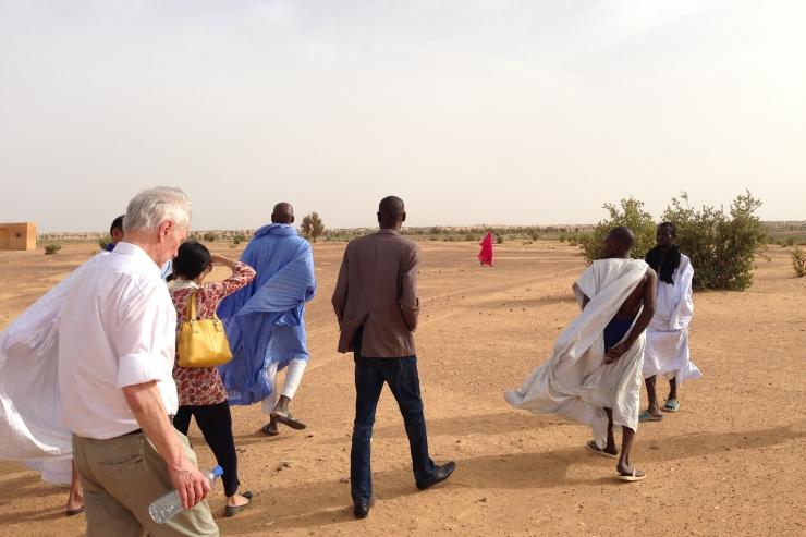 Philip Alston conducting a site visit in Mauritania