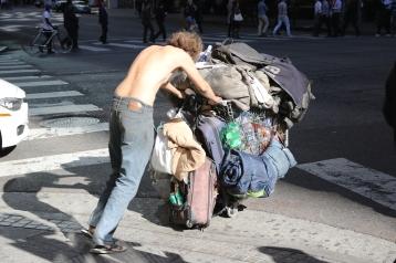 A homeless man in LA, USA visit December 2017. © Anna Bulman 2017