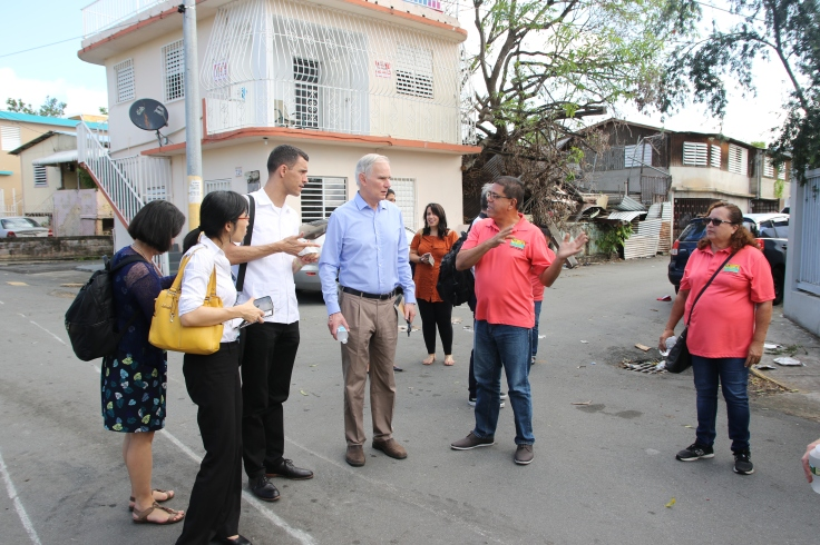 The Special Rapporteur visits Puerto Rico during the USA visit December 2017. © Anna Bulman 2017