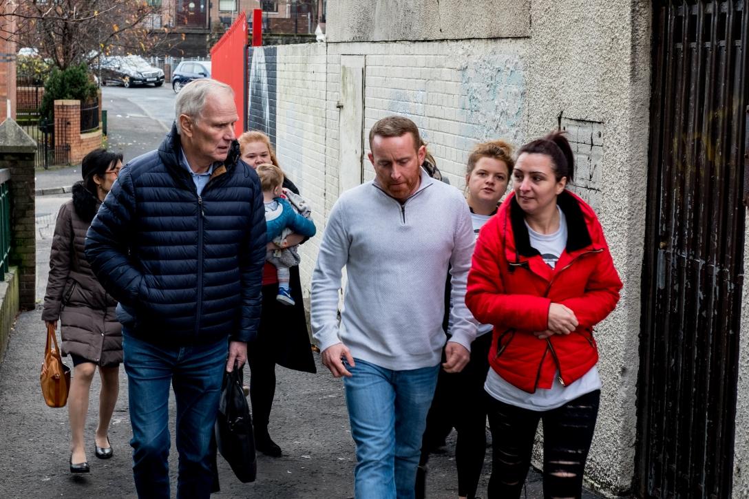 The Special Rapporteur visits North Belfast - C Bassam Khawaja 2018