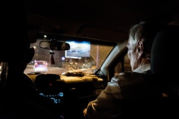 The Special Rapporteur on a night drive in Vientiane. © Bassam Khawaja 2018