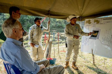 The Special Rapporteur visits an unexploded ordnance clearance site in Houaphanh. © Bassam Khawaja 2018