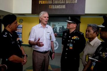 The Special Rapporteur visits Sungai Buloh prison in Selangor. © Bassam Khawaja 2019