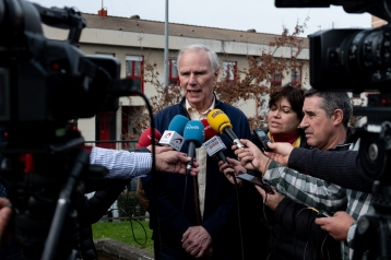 The Special Rapporteur visits a children's center in Bilbao. © Bassam Khawaja 2020