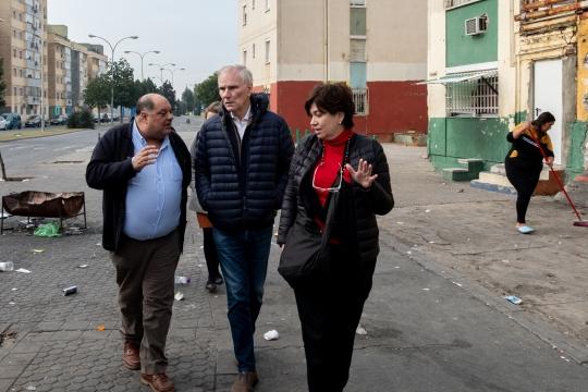 The Special Rapporteur visits Polígono Sur, Andalusia. © Bassam Khawaja 2020