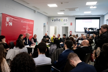 The Special Rapporteur holds a town hall in Madrid. © Bassam Khawaja 2020